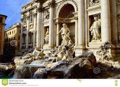 Trevi Fountain. Wish Pond In Rome.Trevi Brunnen. Figuren. Götterstatuen. Rom  https://www.dreamstime.com/stock-photo-trevi-fountain-wish-pond-rome-italy-well-known-as-tourists-breathtaking-sculptures-work-image79612156