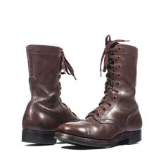 Men's Brown Vintage Combat Boots Dated 1951 by RabbitHouseVintage, $450.00