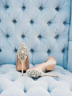 Glam wedding shoes