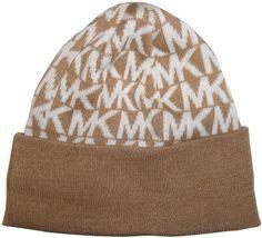 Michael Kors Women s MK Logo Knitted Beanie Hat 9fe8ebd65211
