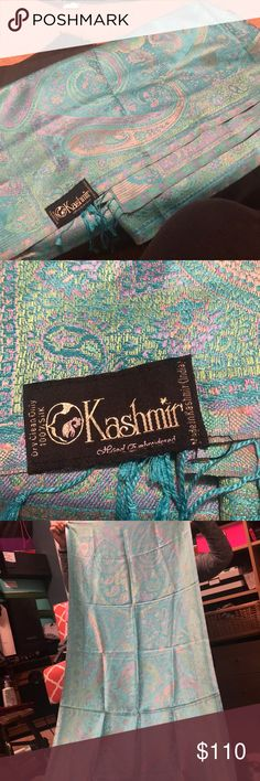 Kashmir Scarf Like new never used! Similar ones sell for 180$ on there website! It is 100% Silk and made in Kashmir India. kashmir Accessories Scarves & Wraps
