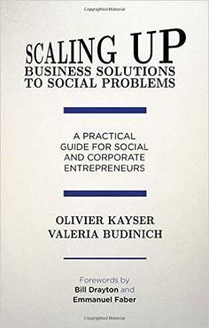 SCALING UP BUSINESS SOLUTIONS TO SOCIAL PROBLEMS : A PRACTICAL GUIDE FOR SOCIAL AND CORPORATE ENTREPRENEURS de Olivier Kayser et Valeria Brudinich. A silent revolution is underway, as entrepreneurs challenge prevalent notions of business motives and methods to invent market-based solutions to eradicate social injustice. Yet many fail to succeed. Based on original research, the authors uncover why impressive solutions fail to scale up, featuring global case studies and practi... Cote : 4-0123…