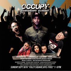 In NYC, Occupy's first anniversary concert!