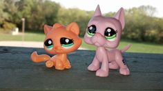 Littlest pet shop colorful cat and great dane bbgs by Vesperwolfy87