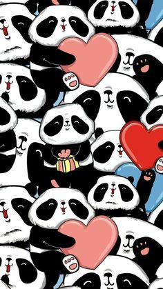 New Wall Paper Cute Panda Bears Ideas Kawaii Cute Wallpapers, Cute Panda Wallpaper, Panda Wallpapers, Flor Iphone Wallpaper, Easter Wallpaper, Cute Wallpaper Backgrounds, Panda Nursery, Panda Painting, Panda Gifts