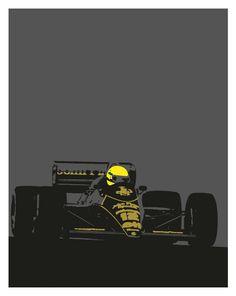 Cartel de Ayrton Senna JPS