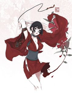 Kurenai - Red Ninja: End of Honor (art by D.K)