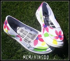 DIY Painted shoes.  Too cute!