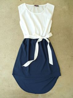 Navy La Sallee Colorblock Dress