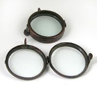 2 Antique Copper Round Clear Double Sided Glass Shadow by BuyDiy, $17.99