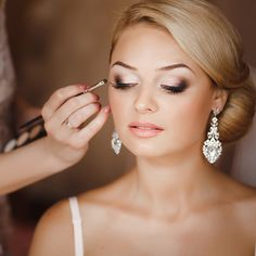 Bride Makeup - Lilly is Love Wedding Makeup For Blue Eyes, Wedding Eye Makeup, Wedding Hair And Makeup, Wedding Beauty, Bridal Hair, Blonde Hair Makeup, Blonde Hair Blue Eyes, Bridal Make Up, Wedding Make Up