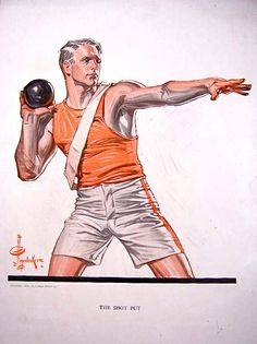 'The Shot Put' by J.C. Leyendecker.
