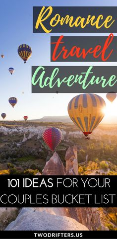 Romance, adventure, and travel. We share a list of 101 exciting bucket list ideas for couples. Gather inspiration for your romantic bucket list, travel bucket list, and more. On your way to reaching your couples goals! #Travel #CouplesTravel #bucketlist #relationshipgoals #couple #couplegoals #adventureb