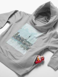 'Auckland Skyline' Toddler Pullover Hoodie by FantailDA Knight Models, Art Store, Kids Cards, Hoodies, Sweatshirts, Original Art, Street Wear, Pullover, The Originals
