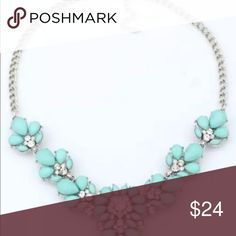 Statement necklace/choker Beautiful statement necklace                                                 **Silver tone**                                                                         **turquoise and crystal color** Jewelry Necklaces