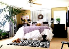 Fantabulous industrial metal siding headboard by Down To Earth Style, featured on I Love that Junk