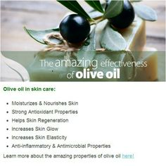 Olive oil for your #skin Morning Beauty Routine, Beauty Routines, Beauty Stuff, Beauty Tips, Health And Wellness, Health And Beauty, Hair Dressing, Olive Oil Bottles, Anti Aging Tips