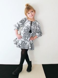 Lindsey Berns #kids FW14 Black + White Collection
