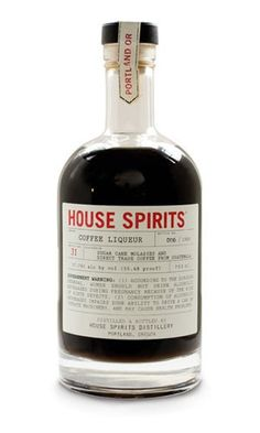 House Spirits Coffee Liqueur, distilled with Stumptown Coffee.distributed through California Wine Merchants Wine Bottle Opener, Wine Bottle Labels, Wine Bottle Holders, Vodka Bottle, Portland, Wine Country Gift Baskets, Wine Tasting Events, Wine Gift Boxes, Chocolate Brands