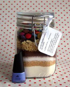 Sarahs Torten und Cupcakes: Cookie-Backmischung im Glas die Zweite