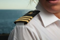 yacht uniform - yachtwear, pilot shirt with epaulette - This is the Crew Style we Formal Wear, Casual Wear, Pilot Uniform, Merchant Navy, African Braids Hairstyles, Private Jet, To My Daughter, Work Wear, Costumes