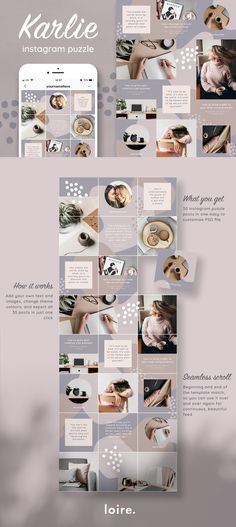 Discover recipes, home ideas, style inspiration and other ideas to try. Instagram Design, Instagram Feed Layout, Instagram Grid, Instagram Post Template, Foto Instagram, Instagram Posts, Instagram Collage, Pink Instagram, Vintage Instagram