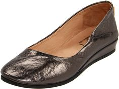 French Sole Womens Zeppa Slip on ShoesGunmetal Nappa65 M US -- Check out the image by visiting the link.