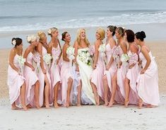 #Pink #beach wedding bridesmaid dresses ... Wedding ideas for brides, grooms, parents & planners ... https://itunes.apple.com/us/app/the-gold-wedding-planner/id498112599?ls=1=8 … plus how to organise an entire wedding, without overspending ♥ The Gold Wedding Planner iPhone App ♥