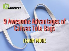 Canvas tote bags are eco-friendly and stylish! Learn about other awesome advantages of canvas tote bags in this article. Promote Your Business, Reusable Bags, Gift Bags, Canvas Tote Bags, Pens, Investing, Buttons, Stickers, Number