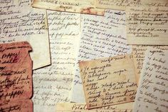 Old hand-written recipes