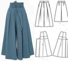 Skirt Patterns Sewing, Clothing Patterns, Hijab Mode, Fashion Pants, Fashion Outfits, Costura Fashion, Fashion Drawing Dresses, Diy Vetement, Schneider