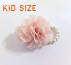 Kid Size corsage, Chiffon Flower corsage, flower girl corsage, baby pink corsage on Etsy, $17.56