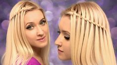 Twisted waterfall braid tutorial. Cute and easy hairstyle for everyday.