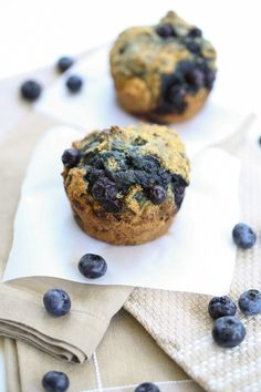 Whole Wheat Blueberry Muffins for two | by @Caroline Edwards | chocolate and carrots