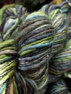 Handspun, Handpainted Merino Wool Yarn, multiple skeins available-LOTHLORIEN
