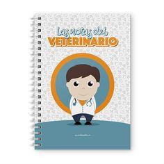 Cuaderno XL - Las notas del veterinario, encuentra este producto en nuestra tienda online y personalízalo con un nombre. Notebook, Scrapbook, Cover, Notebooks, Report Cards, Day Planners, Studio, Student, Scrapbooking