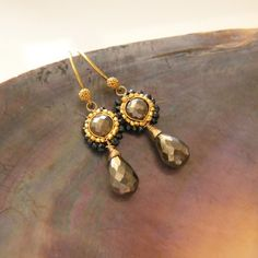 NINA ROSSI JEWELRY - Pyrite shine petite earrings