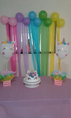 Balloons With Unicorns Baby Girl Birthday 10th 4th Parties Party