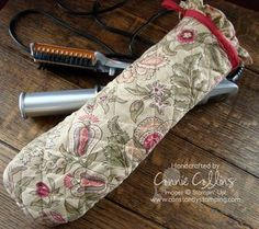 Curling/Flat iron cover made from an oven mitt