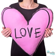 """Beautiful pink pillow with Love. Giant pink color heart shaped pillow with writing """"Love"""" on one of the side. Heart Pillow is meaningful gift. Food Pillows, Pink Pillows, Heart Pillow, Meaningful Gifts, Cool Fabric, Love Heart, Valentine Gifts, Pink Color, Heart Shapes"""