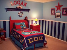 Boys Bedroom Paint Ideas Stripes i like the way the bed says brothers! very cute! | home sweet home
