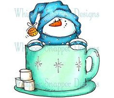 Hot Cocoa Time by Whippersnapper Designs.  I am looking to get one and have tried the website itself.......shipping ridiculous.  Was hoping someone on here might be willing to part with one?  I'd like a cling mounted one but will take a wood mounted for a reasonable price.  I just love this little guy :)