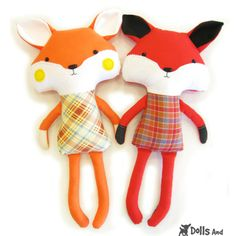 Dolls And Daydreams / Fox Sewing Pattern