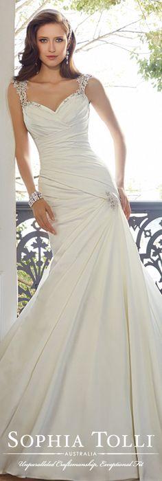 The Sophia Tolli Spring 2015 Wedding Dress Collection - Style No. Y11562 Mynah www.sophiatolli.com #weddingdresses