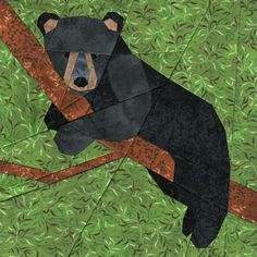 Bear Cub Paper Piecing Quilt Pattern - by Soma Acharya from whims and fancies