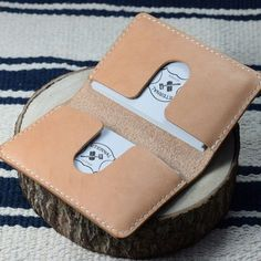 Dual Tone Hermann Oak Business Card Holder, also available in natural.