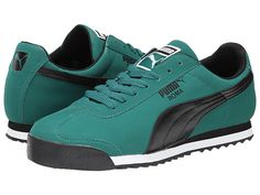 PUMA Roma SL NBK 2 Quarry/White/Gold Fusion - Zappos.com Free Shipping BOTH Ways Pumas Shoes, Men's Shoes, Shoe Boots, Puma Sneakers, Shoes Sneakers, New Adidas Running Shoes, Fresh Shoes, Comfortable Sneakers, Kinds Of Shoes