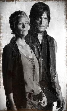 Carol and Daryl Season 4 of The Walking Dead