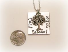 Hand Stamped Family Tree Necklace - Personalized Jewelry - Family Jewelry - Mothers Jewelry - Tree of Life. $27.00, via Etsy.