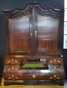 A Century Dutch Walnut Secretaire Armoire 18th Century, Armoire, Dutch, Auction, Furniture, Home Decor, Clothes Stand, Decoration Home, Closet